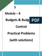 Practicals Budgetory Control