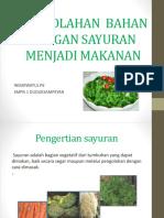 Pp Sayur Jadi Makanan