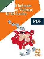 Cost of Intimate Partner Violence in Sri Lanka