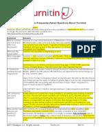 Turnitin2 FAQ Customer