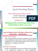 Lec 7 SOP and POS Expressions Their Conversion and Representation
