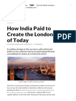 How India Paid to Create the London of Today
