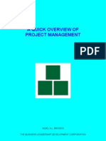 A Quick Overview Of Project Management