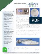 Tracking Antenna Spec Sheet