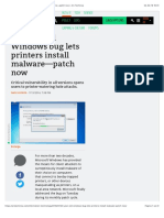 20-year-old Windows bug lets printers install malware—patch now | Ars Technica