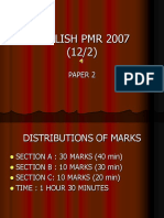 English Pmr 2007