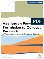 Application Form for Permission to Conduct Research