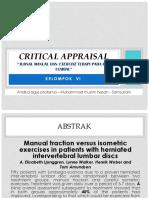 Critical Appraisal Hnp Lumbal Kelompok VI
