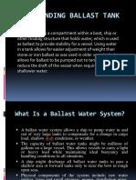Understanding Ballast Tank