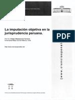 La Imputación Objetiva en La Jurisprudencia Peruana