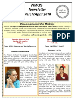 WMGS Newsletter - Mar-Apr 2018