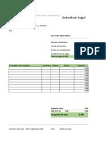 Factura Proforma en Excel
