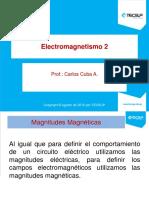Electromagnetismo 2(Magnitudes Magnéticas) Tecsup
