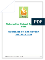 Guide Line for Gas Geyser Installation