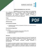 Tdr Ayudante de Investigacion Ref. an 01.2018482168