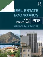 real Estate Economics A point-to-point handbook Nicholas G. Pirounakis