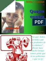 DIAPOSITIVA DE QUEJAS CONTRA DIOS