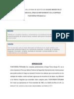 Aplicación de FODA e Indicadores de Gestion