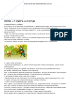 A Cigarra e a Formiga - Contos e Historinhas - QDivertido.com.Br