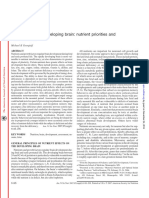 Nutrition and the Developing Brain Nutrient Priorities And