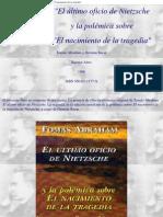 Abraham,T & Sucar,G - El último oficio de Nietzsche y la polémica sobre El nacimiento de la tragedia