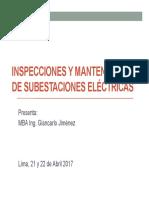 Inspecciones y Mantenimiento de Subestaciones Eléctricas Amb_200417