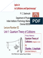 Unit 1 Quantum Theory of Collisions