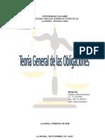 Teoria General de Las Obligaciones. Gustavo Adrianza