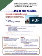Pre Maestria 2018 II