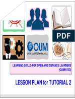 Lesson Plan for Tutorial 2 OUMH1103