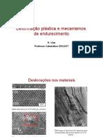 Deformação plástica e mecanismos de endurecimento