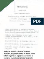 Para o bom regime da república:ouvidores e câmaras municipais no Brasil colonial