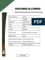 Informacion General de La Empresa