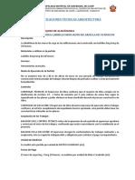 Especificaciones Técnicas de la especialidad de Arquitectura