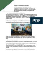 Informe de Observador Electoral 2017