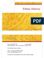 Ethnic History OF THE PHILIPPINES