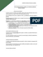 Apuntes de Clase de Practica Procesal Laboral - Concepto y Caracteristicas