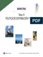 Tema 8.2. Politica de Distribucion y Precios II