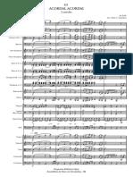 63 Acordai, Acordai Partitura - Full Score
