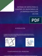 Sistema de Datos Para El Control de Inventarios