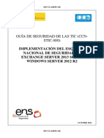 CCN-STIC-880 Implementación Del ENS en Exchange 2013 Sobre Windows Server 2012 R2