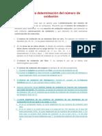 Determinacion Del Numero de Oxidacion (1)