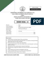 Soal Usbn Fisika (Paket a)