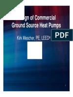 Design of Ground Source Heatpumps
