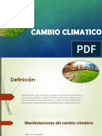 El cambio climatico - presentacion