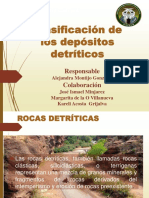 Clasificacion de Depositos Detriticos