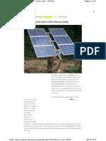 Nuevo Material Solar 100% Efectivo Para Placas Solares Fotovoltaicas