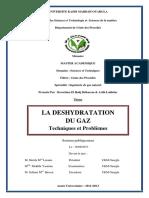 262170555 La Deshydratation Du Gaz