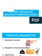RF,RNF y Restricciones