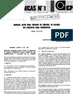 4 Normas Astm Para Ensayos de Control de Calidad Del Concreto Para Pavimentos